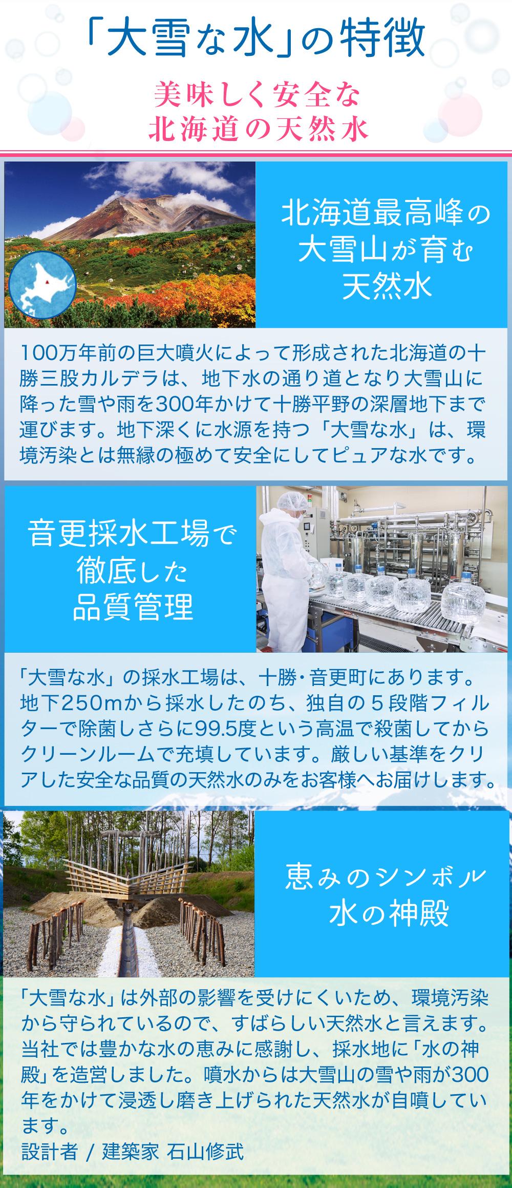 美味しく安全な北海道の天然水