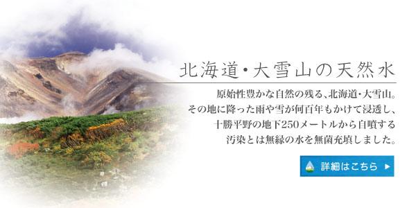北海道・大雪山の天然水
